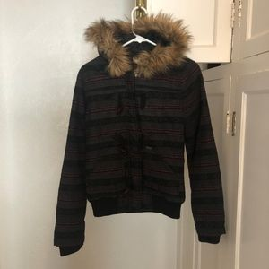 Roxy Jacket Fur Hood Winter Jacket